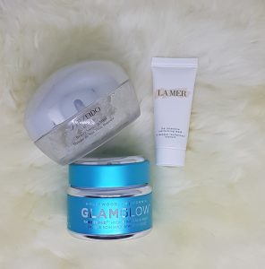 Moja rutyna pielęgnacyjna jak się malować by Marta Malek GlamGlow thirstymud Shiseido Ibuki Beauty sleeping mask La Mer the intensive revitalising mask