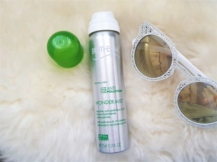 Biotherm Wonder Mist bottle liu Jo sunglases